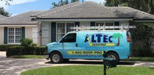 altec roofing service van