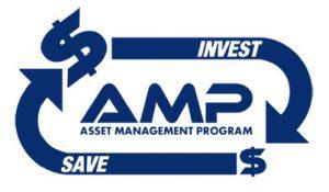 amp logo - blue