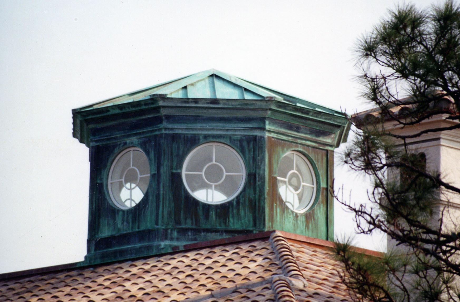 Custom copper roof work