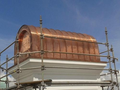 Chimney cap custom copper