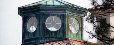 custom metal roof features